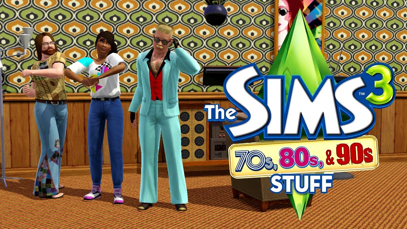 PC THE SIMS 3 70s, 80s AND 90s STUFF