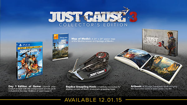 XBOX ONE JUST CAUSE 3 COLLECTOR EDT.